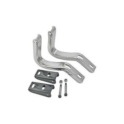 MACs Auto Parts 32-13078 Trunk Lid Hinges - Inner - Stainless Steel - Ford Coupe & Ford Convertible