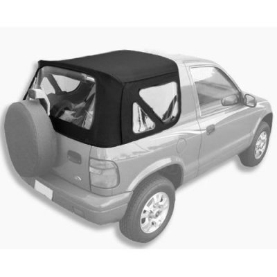 Acme C940\Green-ST1042 Black on Black Pinpoint Vinyl SUV Soft Top for Kia Sportage