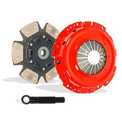 Clutch Kit Works With Pontiac Sunfire Chevy Cavalier Base LS RS SE Sedan Convertible Coupe 1995-1999 2.2L l4 GAS OHV Naturally Aspirated (4-Puck Disc Stage 3)
