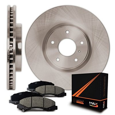 Front Premium OE Blank Rotors and Ceramic Pads Brake Kit KT010141 | Fits: 2001 01 BMW 325Ci E46 Coupe\Convertible Models