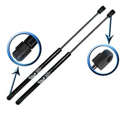Two Rear Trunk Lid Gas Charged Lift Supports For 2001-2006 Chrysler Sebring, 2001-2006 Dodge Stratus. With Spoiler, Non-Convertible Models. LSC-0177-2