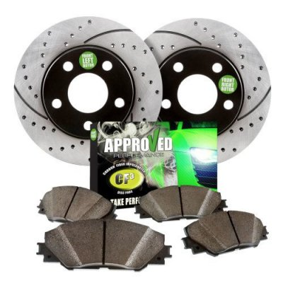 1998 BMW 323 Series E36 Convertible Approved Performance E6052 - [Front Kit] Performance Drilled\Slotted Brake Rotors and Carbon Fiber Pads