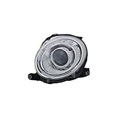 Fits Fiat 500 Hatchback\500C Convertible 2012-2016 Headlight Assembly Driver Side (CAPA Certified) FI2502100C