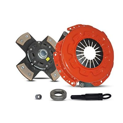 Clutch Kit Works With Set Nissan 300Zx Base Convertible Coupe 2-Door 1990-1996 3.0L V6 GAS DOHC Naturally Aspirated (5 Speed; All model except Turbo; 4-Puck Disc Stage 3)