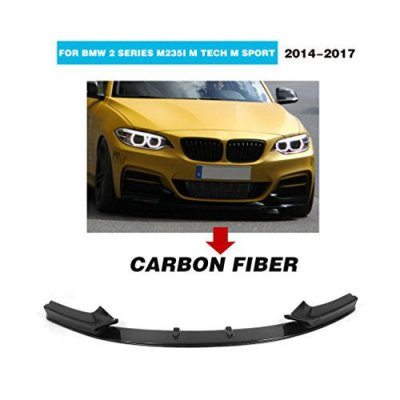MCARCAR KIT For BMW 2 Series F22 M Sport Coupe F33 M Packet Convertible 2014-2017 Factory CNC Moulding Carbon Fiber Front Bumper Lip Spoiler