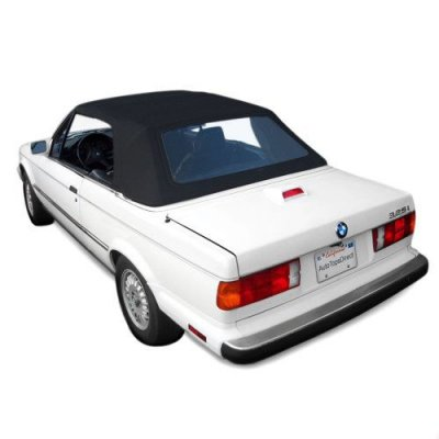 BMW 3 Series E30 Convertible Top, Original German Classic Cloth, Plastic Window Black