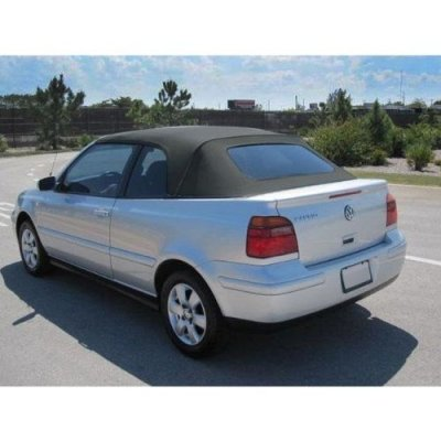 VW Cabrio 2001-2002 Convertible Top with Glass Window in Blue Vinyl