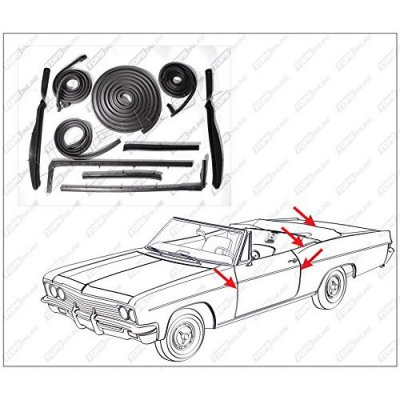 1963 thru 1964 Pontiac Bonneville & Catalina--10 Piece Convertible Model Weather Seals Kit