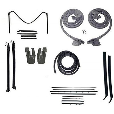 Eckler\'s Premier Quality Products 33-179954 Camaro Convertible Top & Body Weatherstrip Kit, With Replacement Window Felt, For Cars With Standard Or Deluxe Interior&
