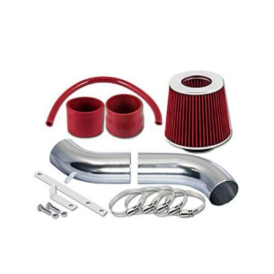 S & T RACING INC ST Racing Red Short Ram Air Intake Kit + Filter 95-00 Chrysler Sebring JX\JXi Convertible Cirrus 2.5L V6