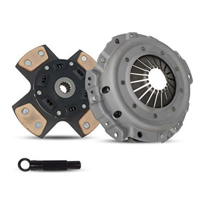 Clutch Kit Chevrolet Cavalier Pontiac Sunfire Base Ls Rs Se Sedan Copue Convertible 1995-1999 2.2L L4 GAS OHV Naturally Aspirated (4-Puck Clutch Disc Stage 2)