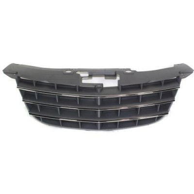 Make Auto Parts Manufacturing - SEBRING 07-10 GRILLE, Painted-Silver Black, w\Chrome Insert Molding, Convertible\Sedan - CH1200315