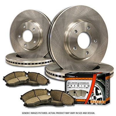 (Front+Rear Rotors + Ceramic Pads)-(Fits:-2009 09 Audi A4 Quattro w\320mm Front Rotors and 300mm Rear Rotors; Excl. Convertible Models)-[SHIPS FROM USA!!-Tax Incl.]