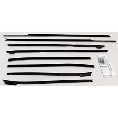 Repops Automotive Reproductions Window Sweeps Felt Kit Weatherstrip For 1967-1968 Cadillac Deville Convertible