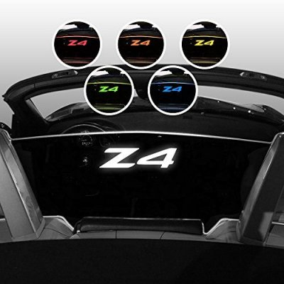2002-2008 BMW Z4 Convertible Wind Screen - Control air flow, cut down turbulence, wind noise - Patented - Easy Install, Secure Mounting - Laser-Etched Design - White Lighting - Black Bracket