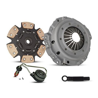 Clutch And Slave Kit Chevrolet Cavalier Pontiac Sunfire Base Ls Rs Se Sedan Copue Convertible 1995-1999 2.2L L4 GAS OHV Naturally Aspirated (6-Puck Clutch Disc Stage 2)