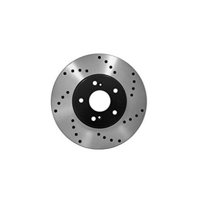 Duraplus [Front E-Coat Drill Brake Rotors Ceramic Pads] Fit 00 BMW 323Ci Convertible