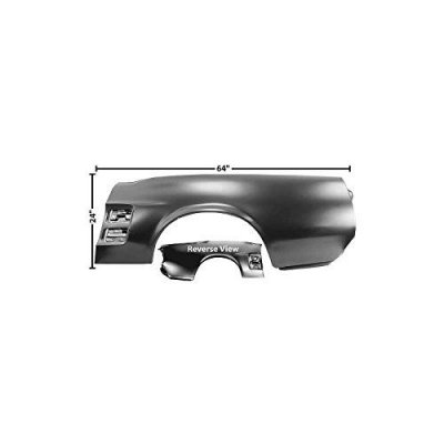 MACs Auto Parts 44-41672 Mustang Convertible Left Quarter Panel with Holes for Scoops