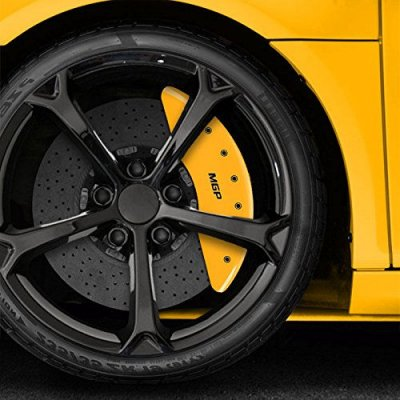 Upgrade Your Auto Set of 4 Yellow MGP Caliper Covers For 2010-2017 Mercedes-Benz E550 Convertible
