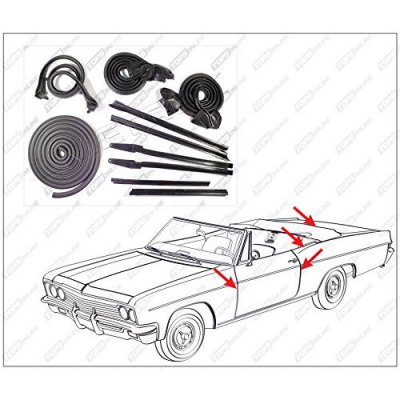 1969 thru 1970 Oldsmobile Delta 88--10 Piece Convertible Model Weather Seals Kit
