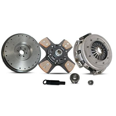 Clutch Kit With Flywheel Ford Mustang Lx Gt SVT Cobra Convertible Coupe Hatchback Sedan 1\1986-2000 4.6L V8 GAS SOHC 5.0L V8 GAS OHV Naturally Aspirated (From 1\1986; 4-Puck Clutch Disc Stage 2)