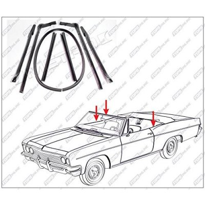 1965 Oldsmobile 98--7 Piece Convertible Top Frame Weather Seals Kit