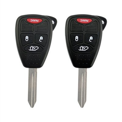 Runmade Dodge Chrysler Jeep Uncut Remote Key Keyless Entry Combo Transmitter Fob for KOBDT04A (Pack of 2)