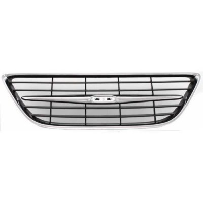 Make Auto Parts Manufacturing - SAAB 9-3 03-07 GRILLE, Center, Chr Shll\Ptd-Blk Insrt, Convertible\Sedan - SB1200102