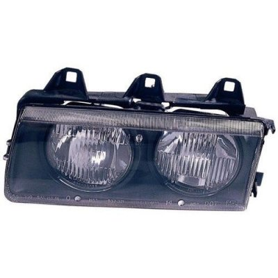 Compatible 1998-1999 BMW 323i Front Headlight Assembly Housing\Lens\Cover - Left (Driver) Side - (Convertible) 63 12 1 468 865 BM2502101 Replacement For BMW 323i