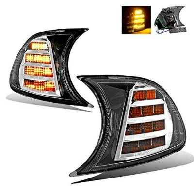 SPPC Chrome LED Corner Light Pair for BMW E46 Coupe\Convertible - Passenger and Driver Side
