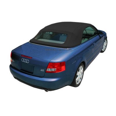Audi S4 2003-2009 Convertible Top with Glass Window made from Upgraded German A5B\DS Acoustic Cloth, Black