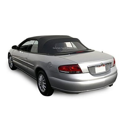 Chrysler Sebring Convertible Top for 1996-2006 Models in Sailcloth Vinyl with Plastic Window, Black