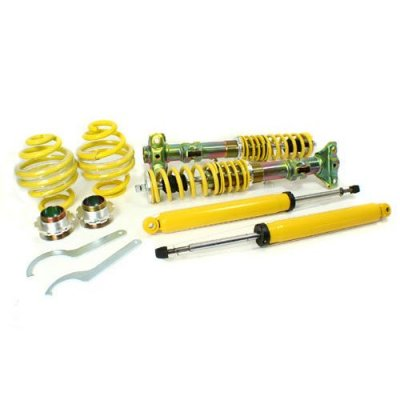 RSK Street Adjustable Coilover Kit - BMW E36 3-Series Sedan\Coupe\Convertible (318i 318is 320i 323i 323is 325i 325is 328i 328is) - Yellow (1992 1993 1994 1995 1996 1997 1998 1999)