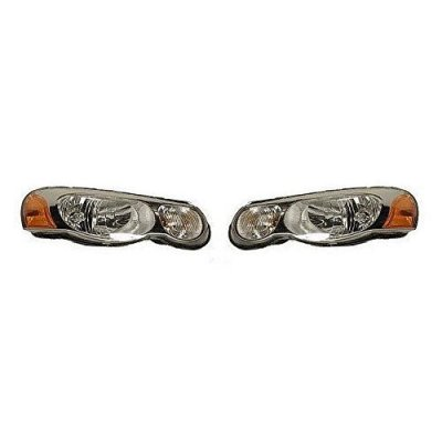 Fits 04 05 06 Chrysler Sebring (Sedan and Convertible Only) Headlamp Headlight (without Leveling) Pair Set Both Driver and Passenger NEW 4806037AF 4806036AF CH2502150 CH2503150