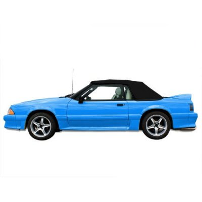 Ford Mustang Convertible Top for 91-93 Models in Pinpoint Vinyl with Plastic Window, Black