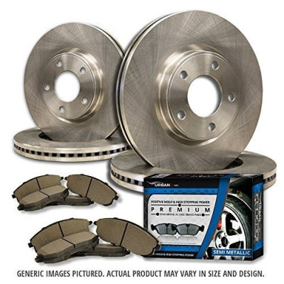 (Front+Rear Rotors + Semi-Met Pads)-(Fits:-2009 09 Audi A4 Quattro w\320mm Front Rotors and 300mm Rear Rotors; Excl. Convertible Models)-[SHIPS FROM USA!!-Tax Incl.]