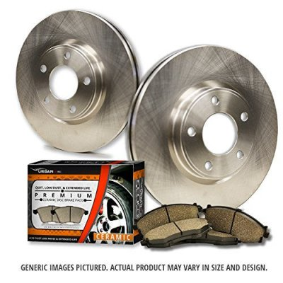 (Front Rotors + Ceramic Pads)-(Fits:-2004 04 Chrysler Sebring Convertible Models)-[SHIPS FROM USA!!-Tax Incl.]