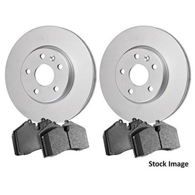 2012 For Infiniti G37 Front Anti Rust Coated Disc Brake Rotors and Ceramic Brake Pads Coupe (Note: w\o Brembo Brakes; Coupe; Convertible)