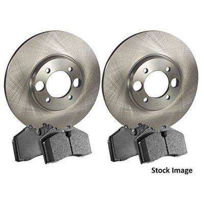 2009 For Infiniti G37 Front Disc Brake Rotors and Ceramic Brake Pads Coupe (Note: w\o Brembo Brakes; Coupe; Convertible)