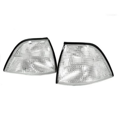 DEPO 1992-1999 BMW E36 2D Coupe\Convertible Euro Clear Corner Signal Light Set