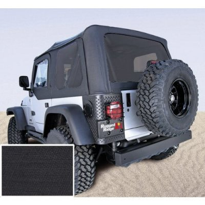 Rugged Ridge 13730.35 Black Soft Top with Tinted Windows and No Doors