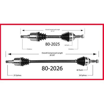 Mac Auto Parts 38761 Sebring Convertible 2 \ New CV Drive Axle Shaft