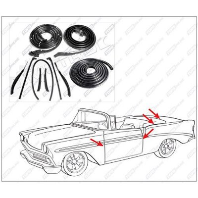 1959 thru 1960 Buick Electra--10 Piece Convertible Model Weather Seals Kit