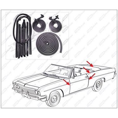 1964 thru 1965 Pontiac GTO, Lemans, & Tempest--8 Piece Convertible Model Weather Seals Kit
