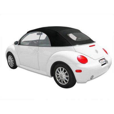 Volkswagen Beetle Haartz German A5 Convertible Top with Heated Glass Window for VW with Power Opening Top Black