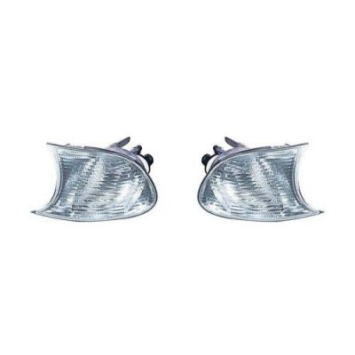 Fits BMW M3 1999-2001\3 Convertible\Coupe Series 1999-2001\03-3\03 Parking Signal Light Assembly Pair Driver and Passenger Side White BM2520108, BM2521108