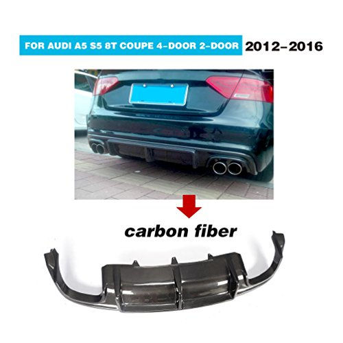 For Audi S5 8T Coupe Convertible Sportback 2012-2016 Facelift CNC Moulding Carbon Fiber RS Look Rear Bumper Diffuser Body kits