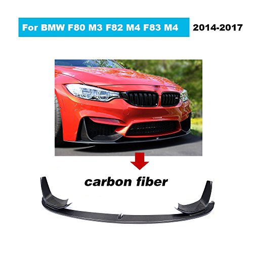 For BMW F80 M3 Sedan F82 F83 M4 Coupe Convertible 2014 2015 2016 2017 Facelift Carbon Fiber Front Chin Spoiler Bumper Lip (P Look Front Lip)