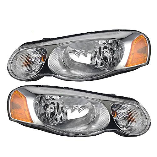 Pair Set Halgoen Combination Headlights Headlamps Replacement for Chrysler Sebring Sedan Convertible 4806037AB 4806036AB